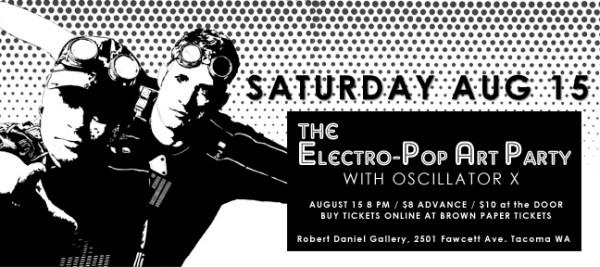 Electro Pop Art Party - Tacoma WA 2009